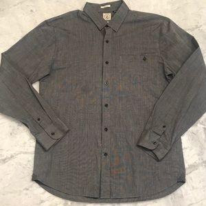 Volcom button up dress shirt sz Large